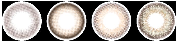 ゆうこすカラコン・レンズ4種
